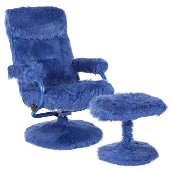 Flash Furniture Navy Fur Recliner CGA-BT-239408-NA-HD