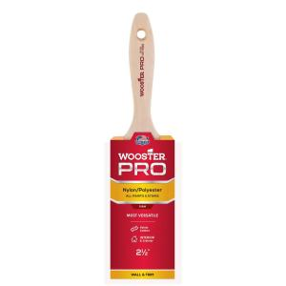2-1/2 in. Pro Nylon/Polyester Flat Brush