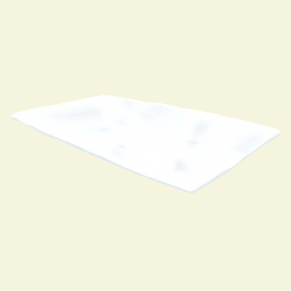 nuvue 42 in x 25 ft white synthetic fleece winter blanket roll