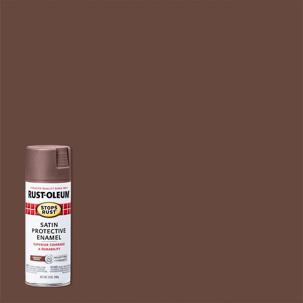 12 oz. Protective Enamel Satin Chestnut Brown Spray Paint