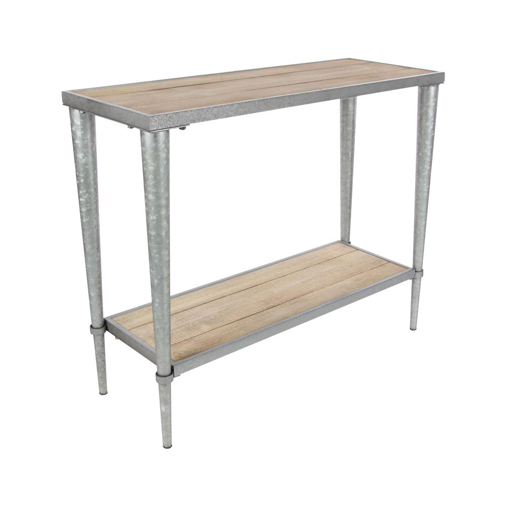 iron console table. Rustic Wood And Gray Iron Console Table