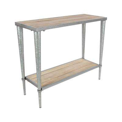 Rustic Wood and Gray Iron Console Table