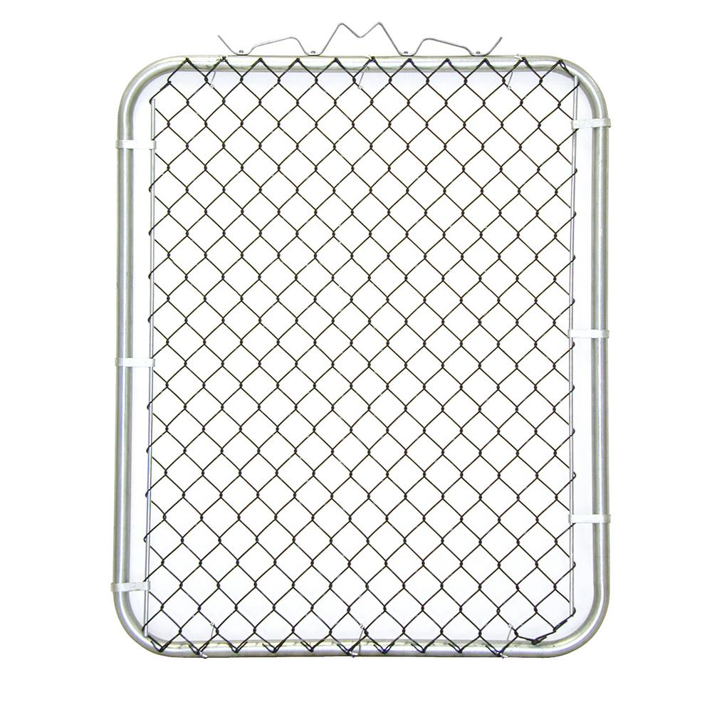 YARDGARD 42 in. W x 48 in. H Black PVC Coated Steel Bent Frame Walk-Through Chain Link Fence Gate