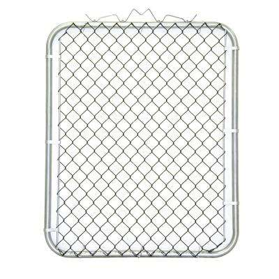 38 in. W x 48 in. H Black PVC Coated Steel Bent Frame Walk-Through Chain Link Fence Gate