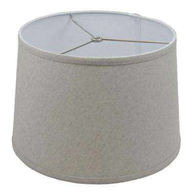 Fenchel Shades 13 in. Top Diameter x 15 in. Bottom Diameter x 10 in. Slant,  Empire Lamp Shade - Couture Flax