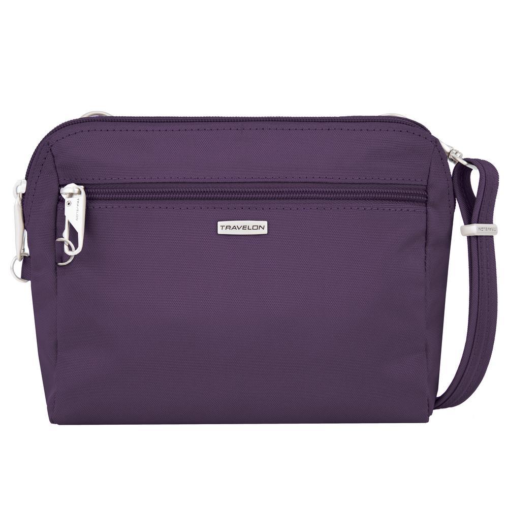 Anti-Theft Purple Convertible Crossbody and Waist Pack