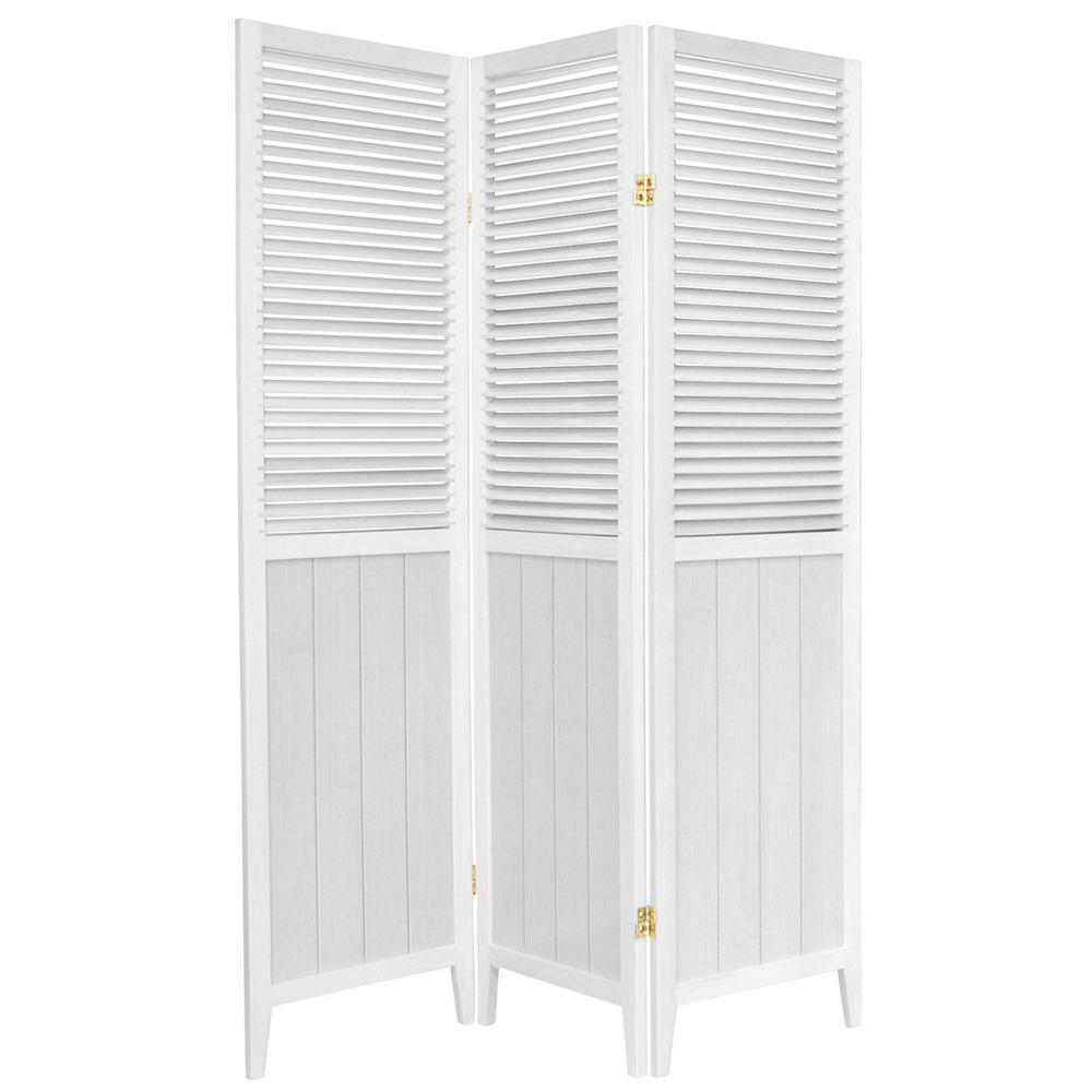 6 ft. White 3-Panel Room Divider