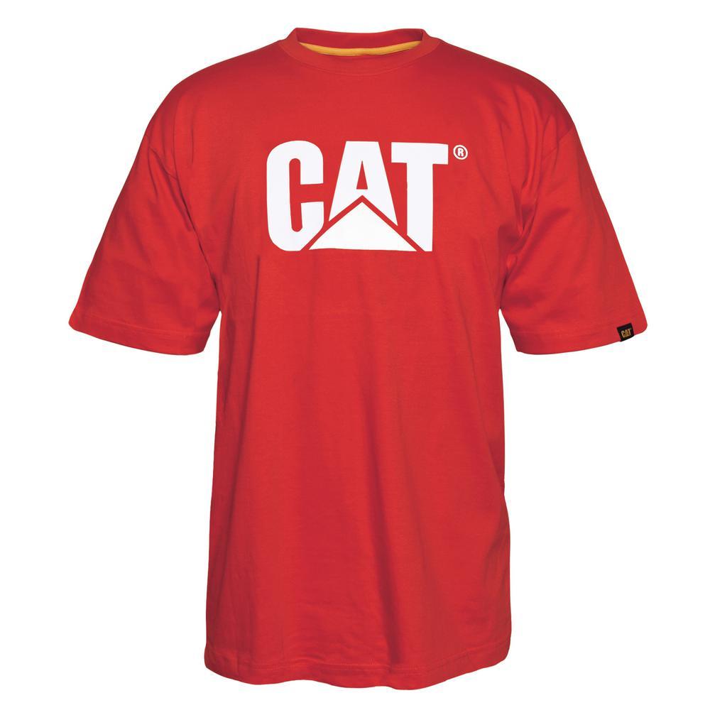 TM Logo Men's Large Red Tide Cotton Short Sleeved T-Shirt