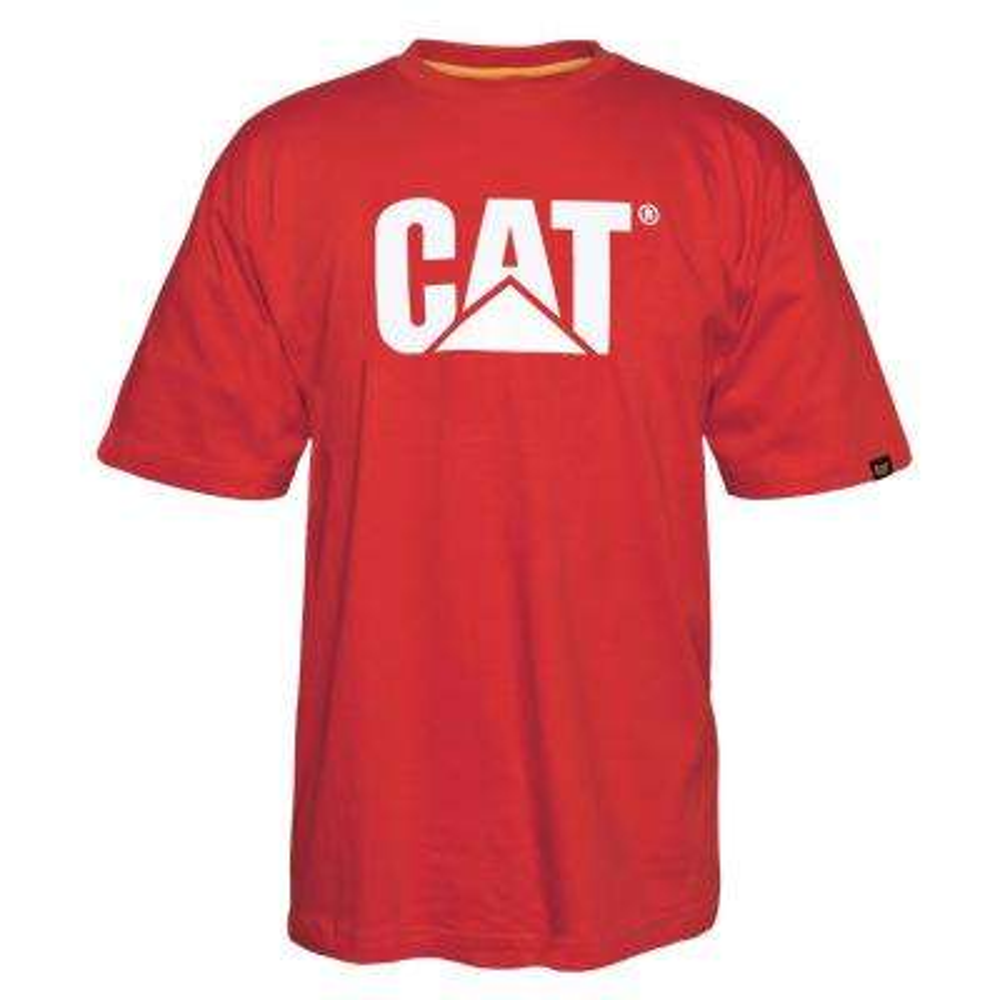 TM Logo Men's X-Large Red Tide Cotton Short Sleeved T-Shirt