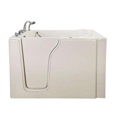 Bariatric 4.58 ft. x 35 in. Walk-In Air and Hydrotherapy Massage Bathtub in White with Left Door/Drain