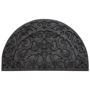 Apache Mills Monique Iron Onyx 18 inch x 30 inch Door Mat by Apache Mills