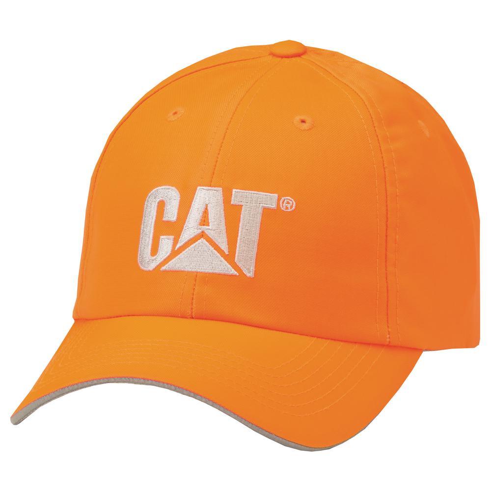 cd2726729 Caterpillar Hi-Vis Men's One Size HVOrange Polyester/Cotton Cap Headwear