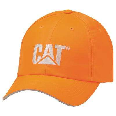 Hi-Vis Men's One Size HVOrange Polyester/Cotton Cap Headwear