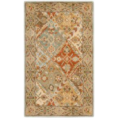 Heritage Light Blue/Light Brown 3 ft. x 5 ft. Area Rug
