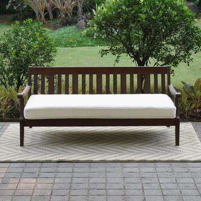 Wales Wood Outdoor Sofa Day Bed with White Cushion