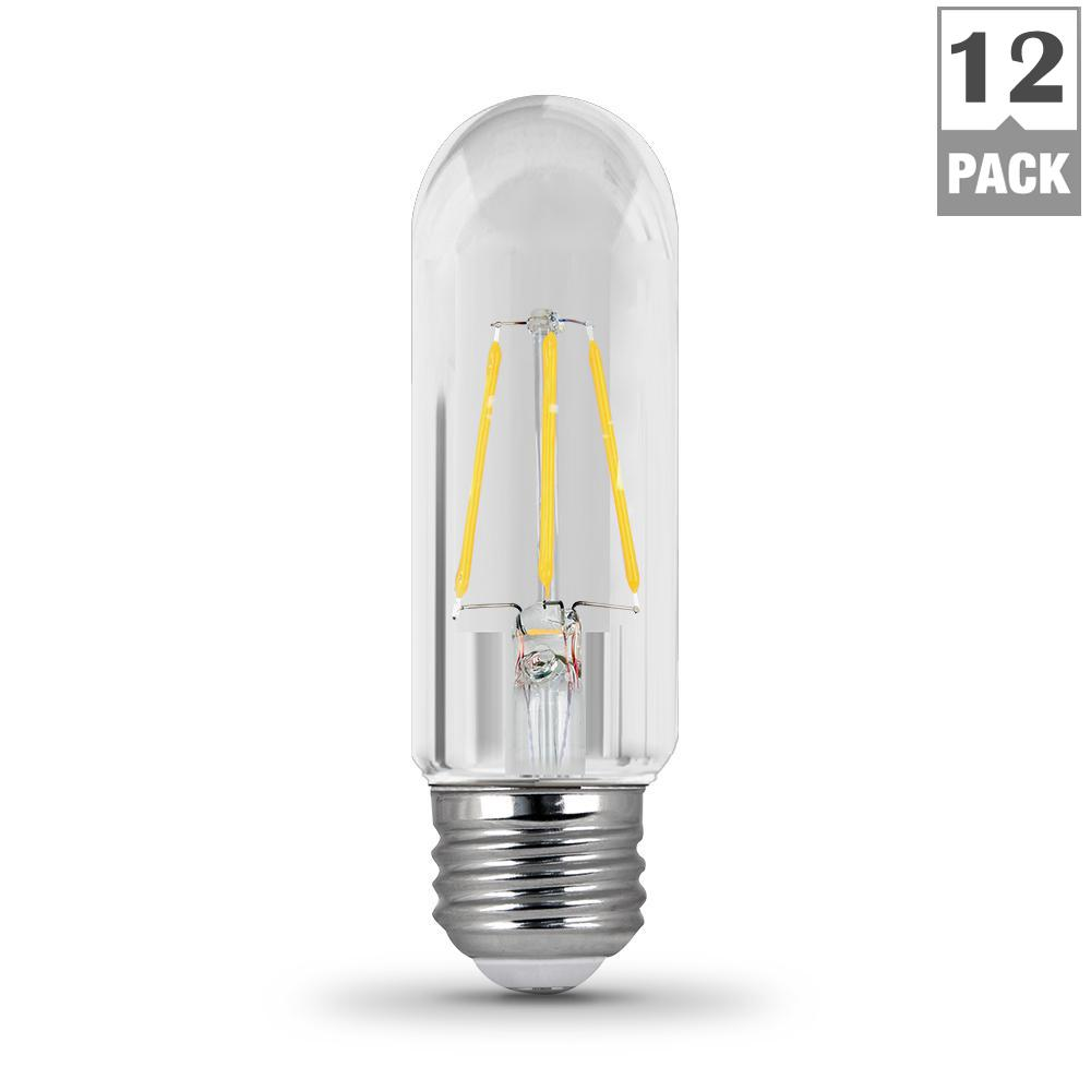 Feit Electric 40w Equivalent Soft White A19 Clear Filament: Feit Electric 40-Watt Equivalent Soft White (2700K) T10