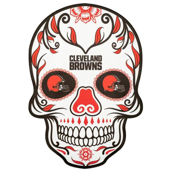 Applied Icon NFL Cleveland Browns Outdoor Skull Graphic- Large NFOS0803