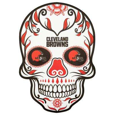 NFL Cleveland Browns Outdoor Skull Graphic- Large