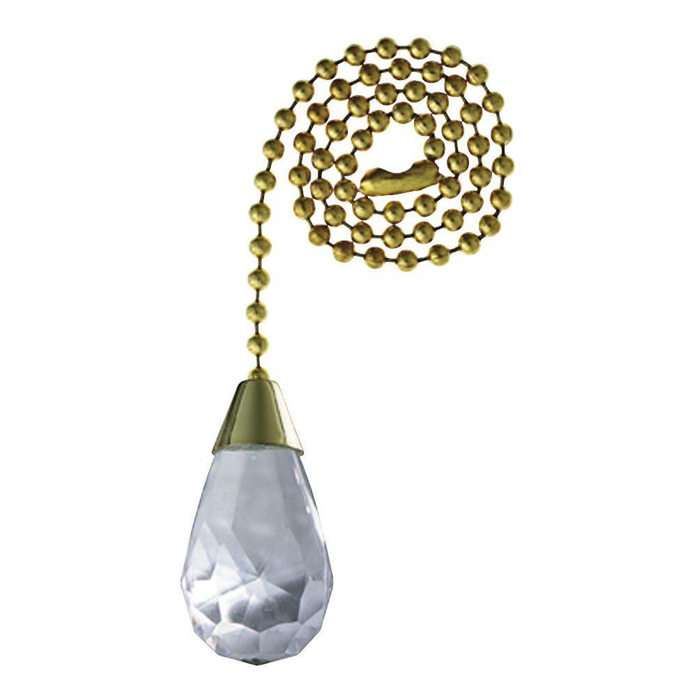 Acrylic Teardrop Pull Chain