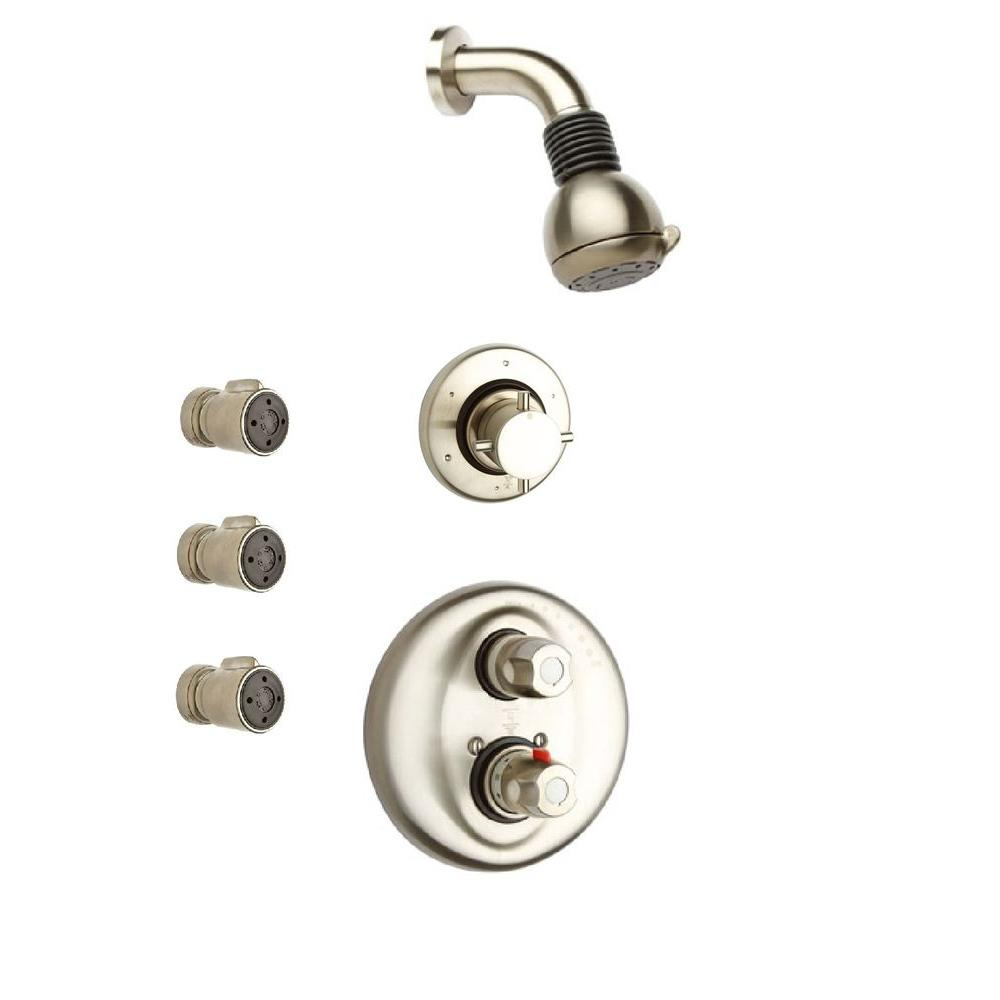 LaToscana Water Harmony Shower System 4 in Brushed Nickel