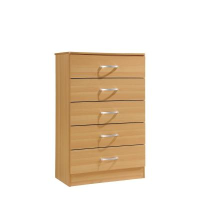 5-Drawer Beech Chest of Drawers