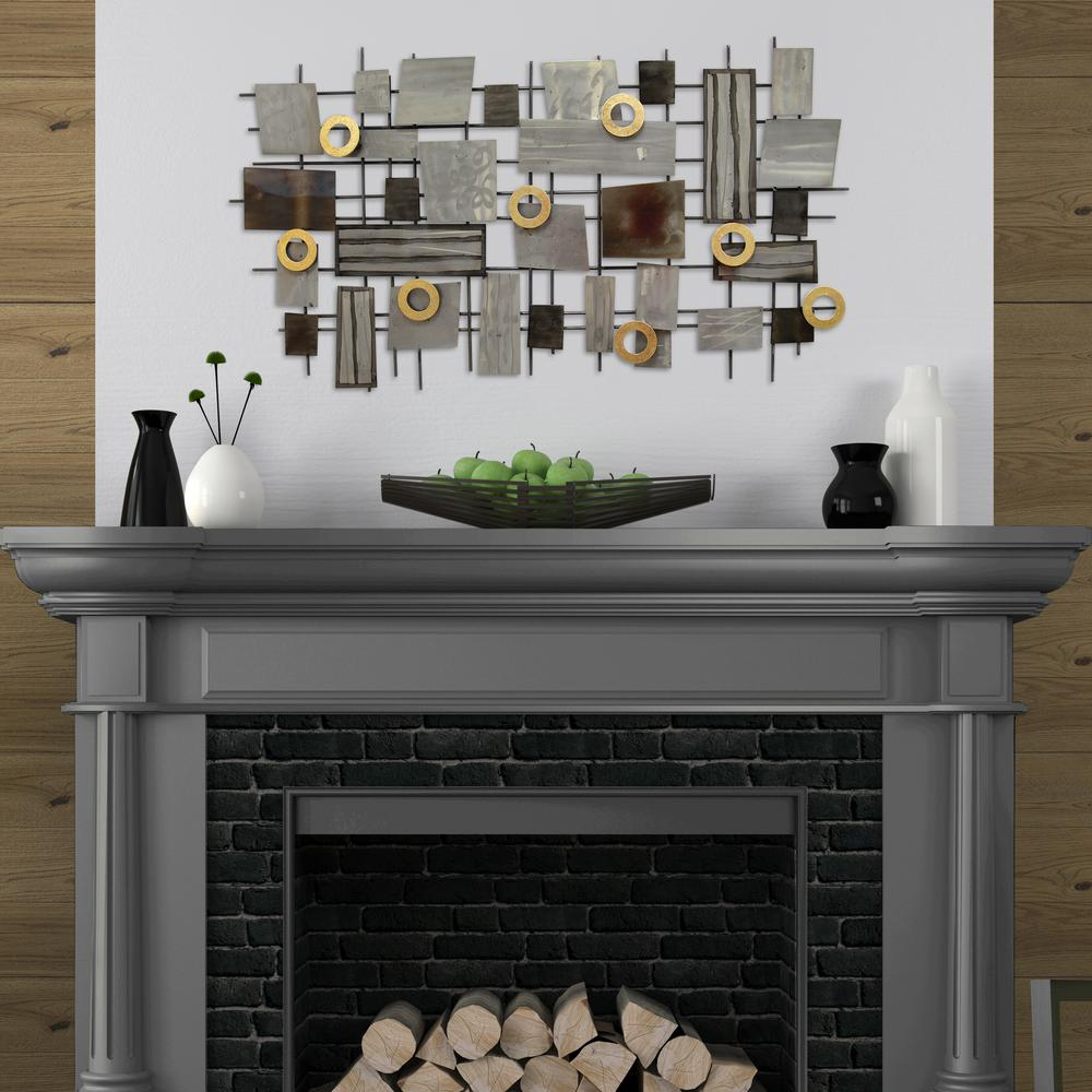 Home Decorators Collection Amaryllis 36 in. Square Metal Wall ...