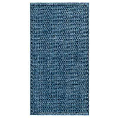 Saddlestitch Blue/Black 6 ft. x 9 ft. Area Rug