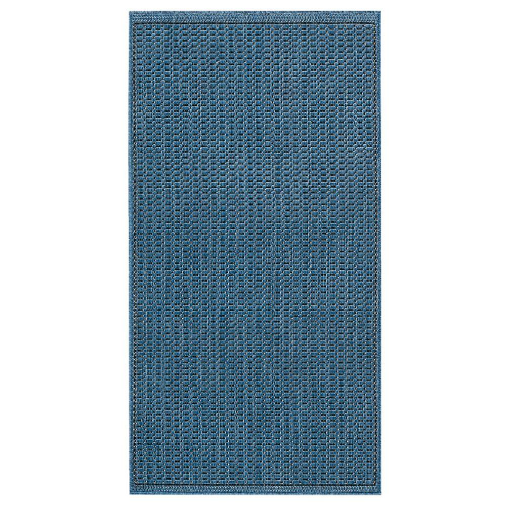 Amazing Home Decorators Collection Saddlestitch Blue/Black 8 Ft. X 11 Ft. Area Rug 2881440320    The Home Depot