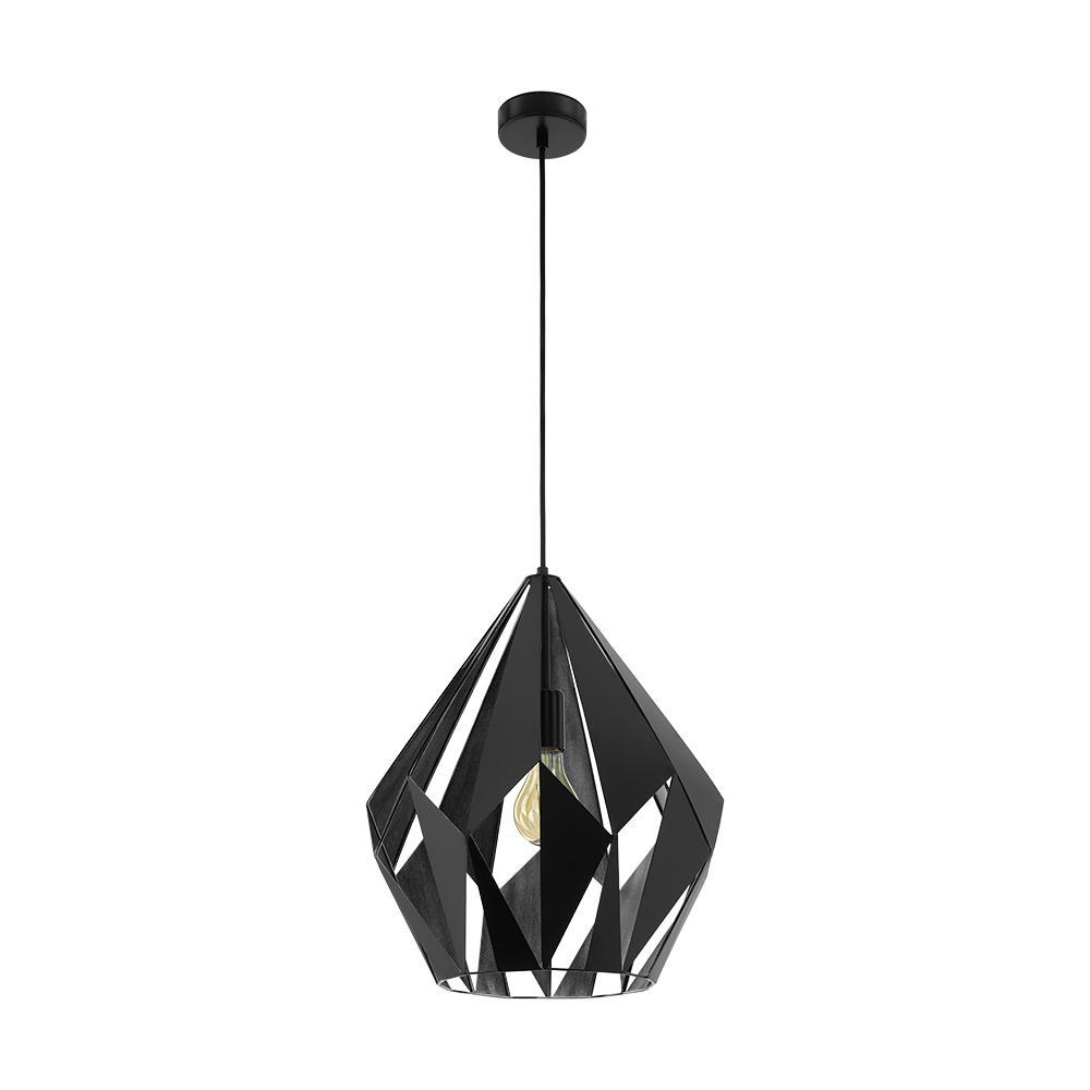 Carlton 1 1-Light Matte Black Pendant