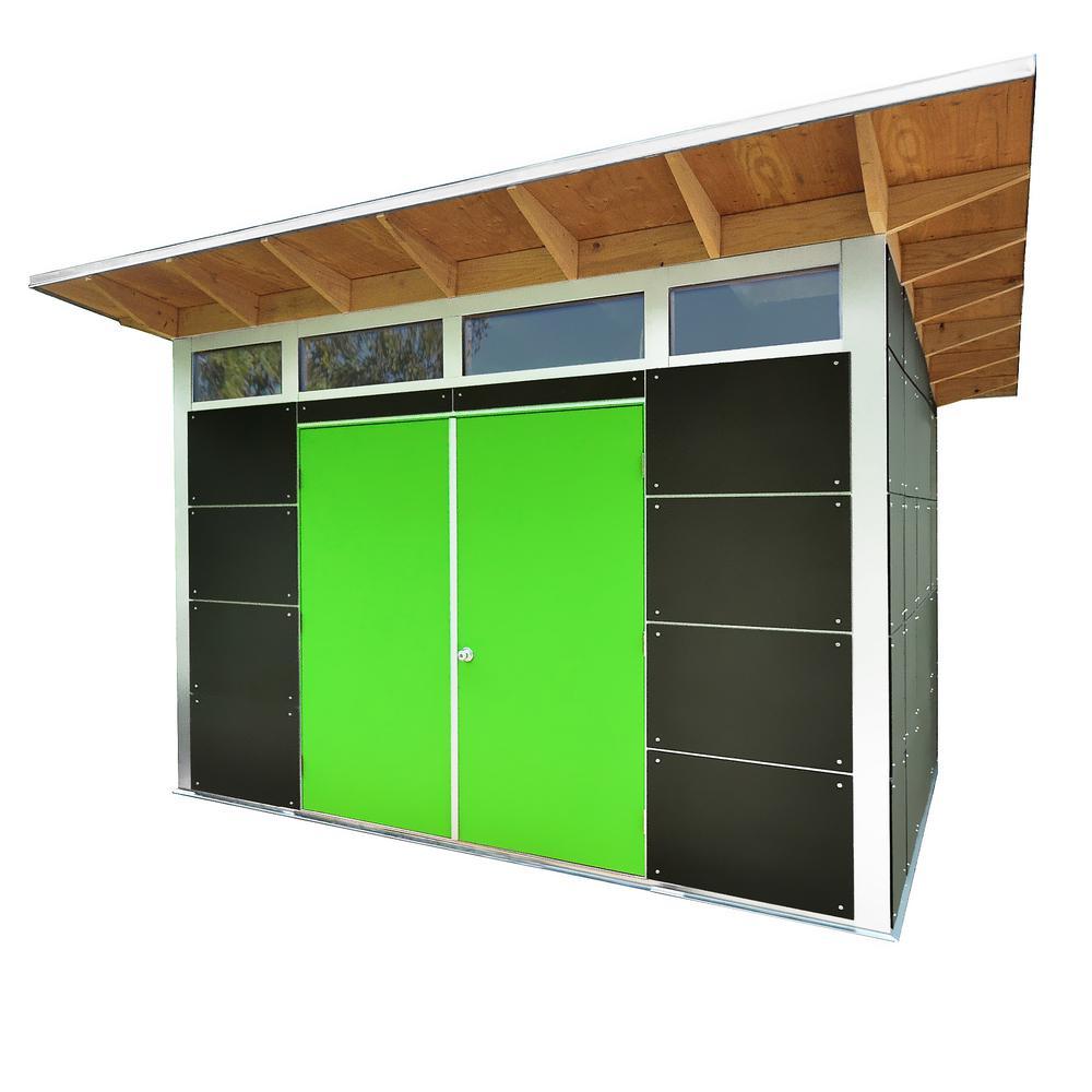 Flora 12 ft. x 10 ft. Premium Backyard Storage/Workshop Building