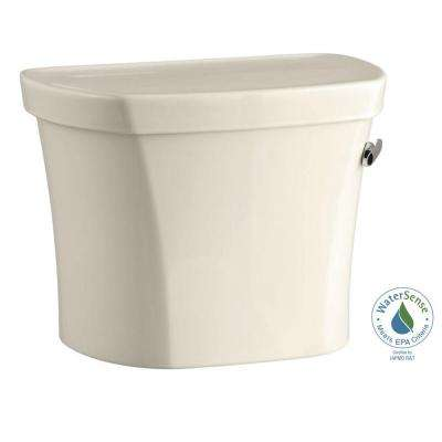 Wellworth 1.28 GPF Single Flush Toilet Tank Only with Right Hand Trip Lever in Almond