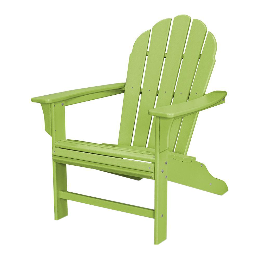 Trex Outdoor Furniture HD Lime Patio Adirondack Chair-TXWA16LI - The Home  Depot - Trex Outdoor Furniture HD Lime Patio Adirondack Chair-TXWA16LI - The