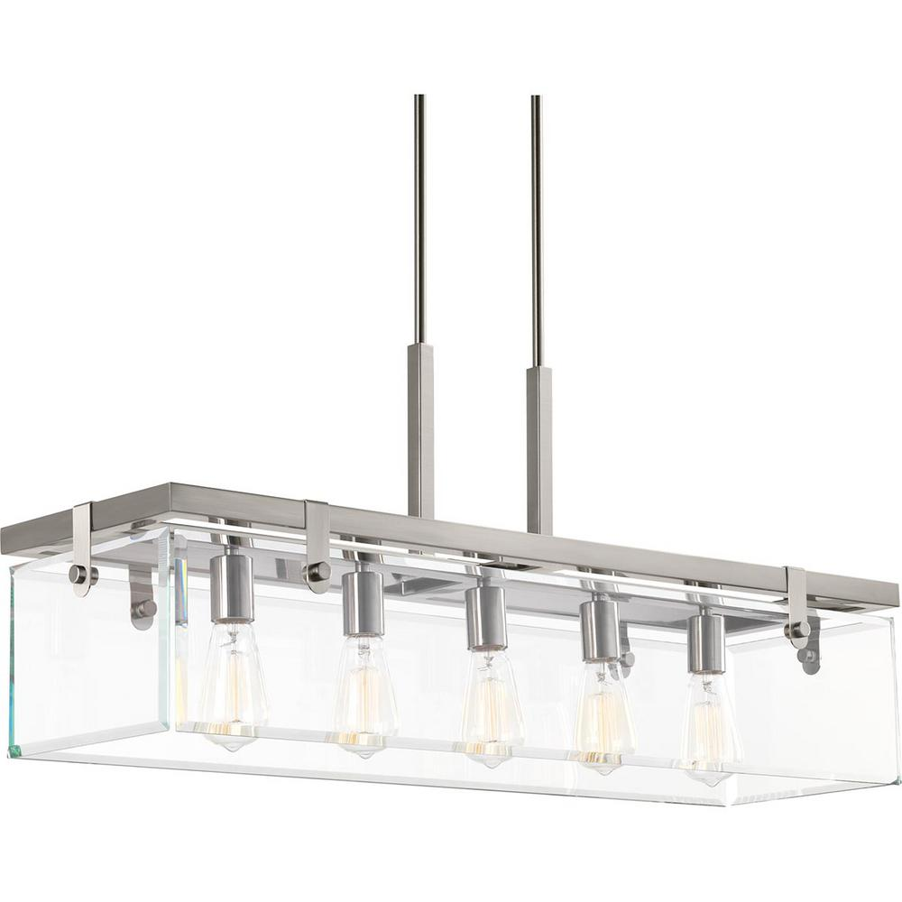 Brushed Nickel Kitchen Island Pendant Light Fixture Dining: Progress Lighting Glayse Collection 5-Light Brushed Nickel