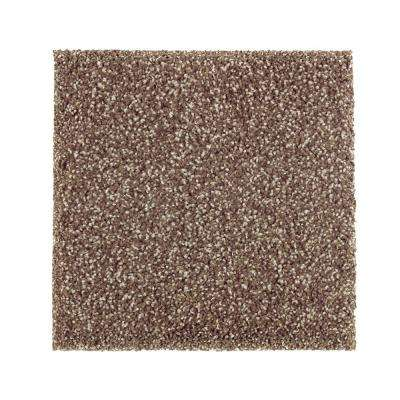 Carpet Sample - Whirlwind II - Color Leather Tone Texture 8 in. x 8 in.