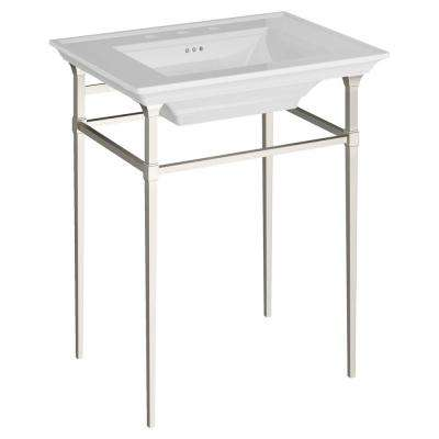 Town Square S Pedestal Basin Console Legs in Brushed Nickel