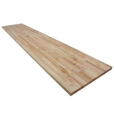 10 ft. L x 2 ft. 1 in. D x 1.5 in. T Butcher Block Countertop in Finished Maple