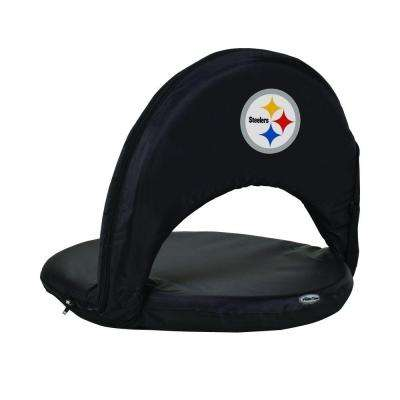 Oniva Pittsburgh Steelers Black Patio Sports Chair with Digital Logo