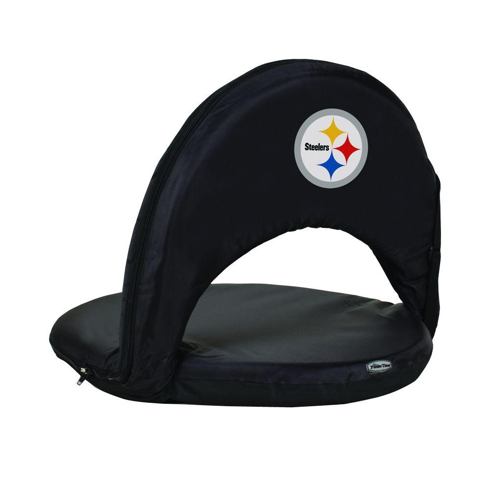 Picnic Time Oniva Pittsburgh Steelers Black Patio Sports Chair With Digital  Logo