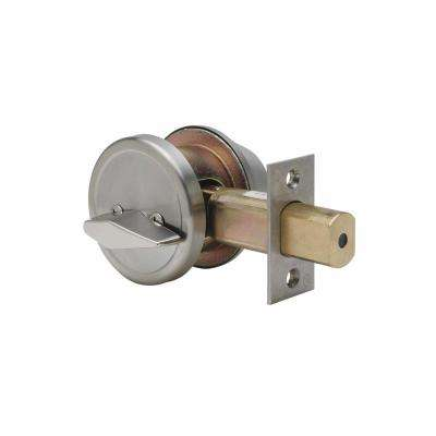 Single Cylinder Satin Stainless Grade 2 Deadbolt