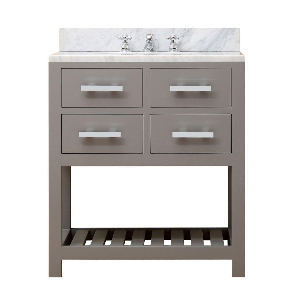 Water Creation In W X In D X In H Vanity In Cashmere - 24 30 inch bathroom vanities