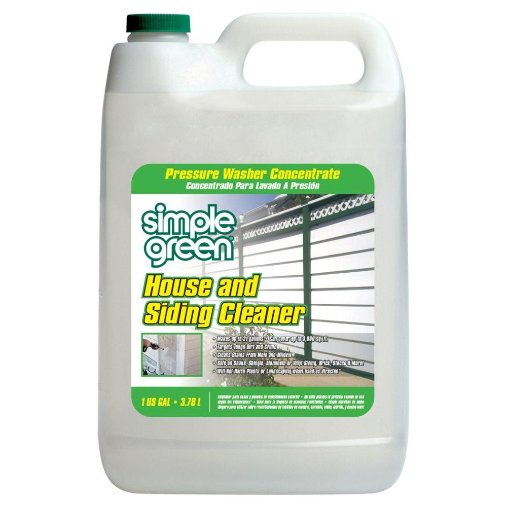 Simple Green 1 Gal. House and Siding Cleaner Pressure Washer Concentrate (4-Case)