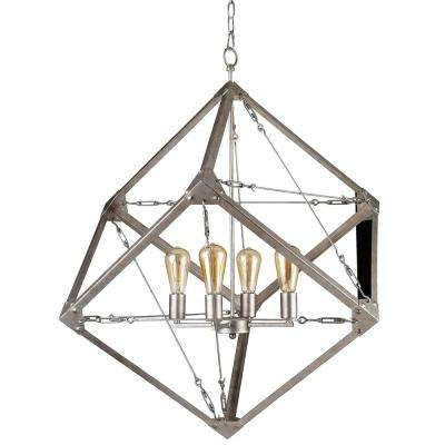 Askew 4-Light Silver Age Pendant
