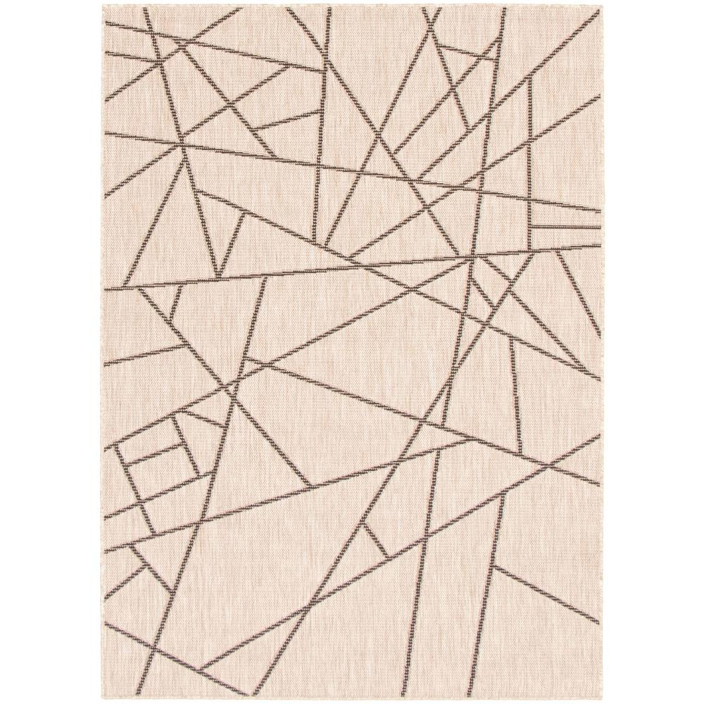 Ecarpet Gallery Machine Woven Sisal Abstract Silver Black 7 Ft 1 X 10 Ft 2 In Abstract Area Rug 315442 The Home Depot