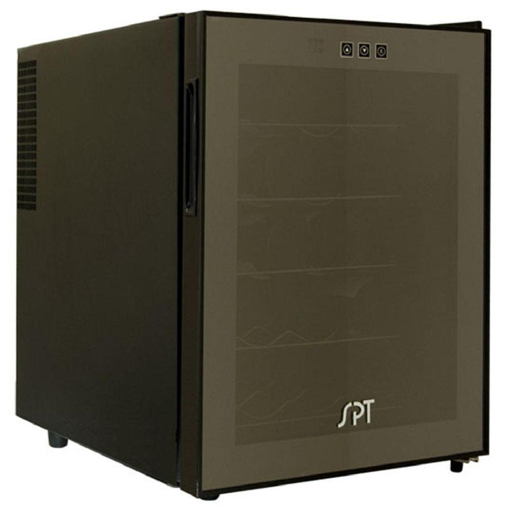 Spt 20 bottle wine cooler in black wc 20tl the home depot for Modern homes 8 bottle wine cooler