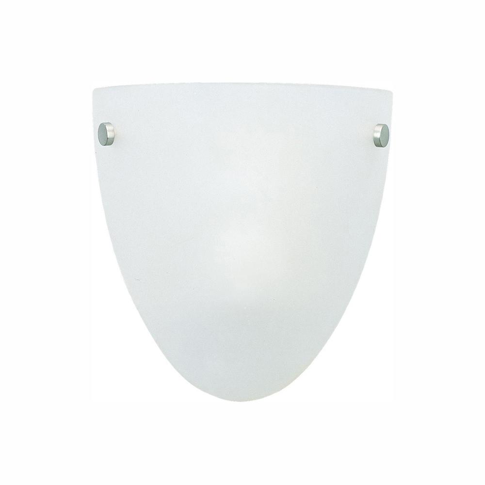 Sea Gull Lighting Metropolis 1-Light Brushed Nickel and Bronze Accent Sconce with Satin Etched Glass