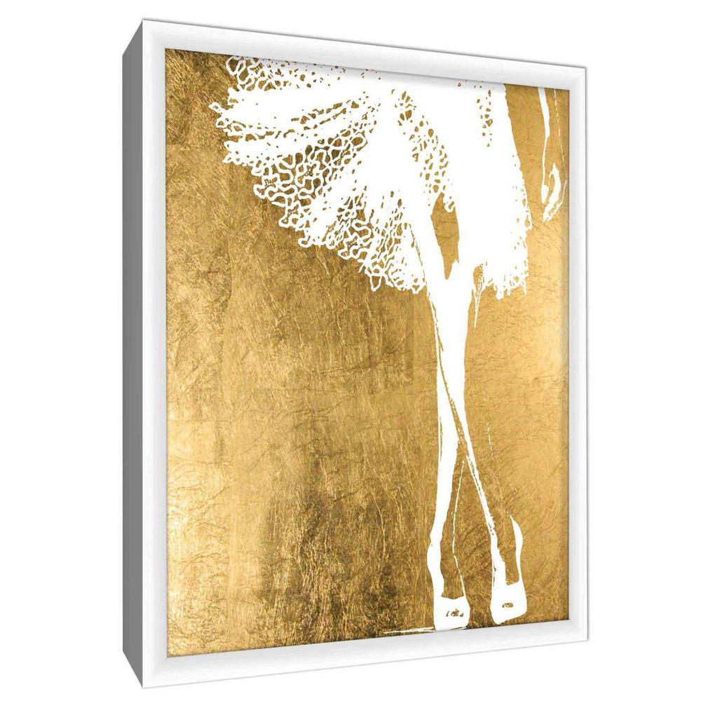 PTM Images 12.in x 10.in\'\'Gold & White X\'\' By PTM Images Printed ...