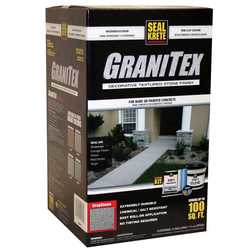 Seal-Krete 3 gal. GraniTex Kit - Graystone