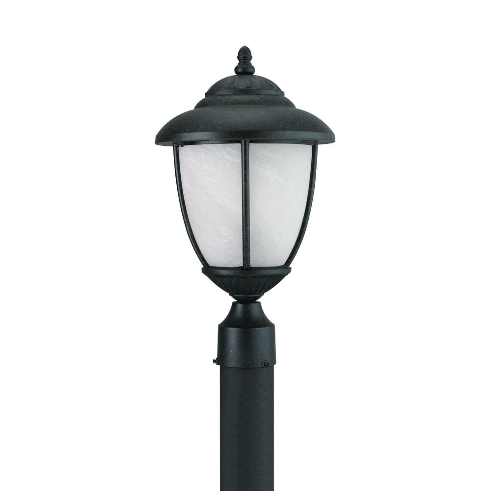 Outdoor Post Light Bulbs: Sea Gull Lighting Yorktown 1-Light Outdoor Forged Iron