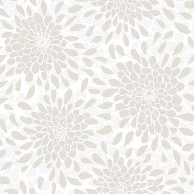 Toss The Bouquet Beige Vinyl Peelable Roll (Covers 28.18 sq. ft.)