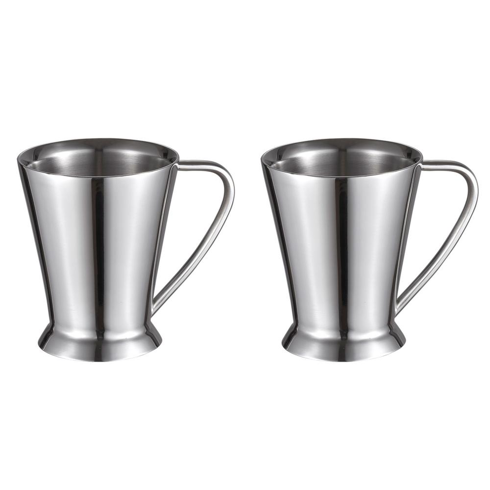 Columbia Double Walled Stainless Steel Coffee Mugs Set Of 2 Vac370 X2 The Home Depot
